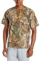 Carhartt Men's Realtree 1 Pocket Print Scrub Top