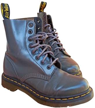 Dr. Martens 1460 Pascal (8 eye) Grey Leather Ankle boots