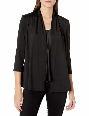 Kasper Women's 3/4 Sleeve Cardigan with Back Waist Detail
