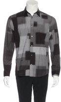 Robert Geller Printed Button-Up Shirt w/ Tags