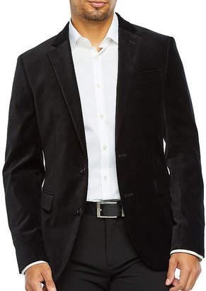 Jf J.Ferrar Mens Super Slim Fit Velvet Sport Coat