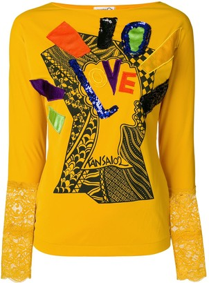 Kansai Yamamoto Pre-Owned long sleeve T-shirt with appliqué