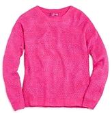 Aqua Girls' Waffle Knit Wool Sweater, Big Kid - 100% Exclusive