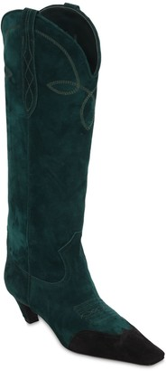 KHAITE 50mm Dallas Suede Tall Boots