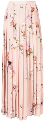 Giambattista Valli Floral Maxi Silk Skirt