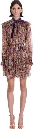 Zimmermann Dress In Multicolor Silk