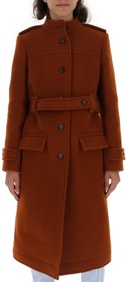 Chloé Single-Breasted Belted Coat