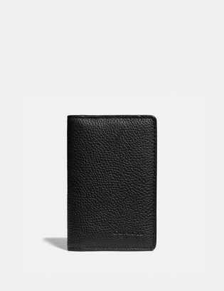 Coach Card Wallet With Signature Canvas Blocking