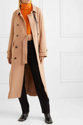 MUNTHE - Heim Belted Double-breasted Twill Coat - Camel