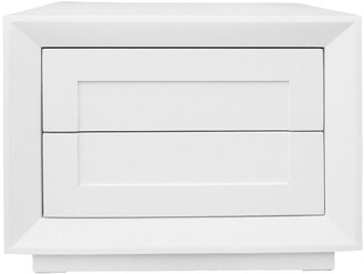 Cafe Lighting Montreal Bedside Table White