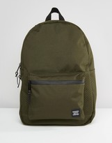 Herschel Supply Co Settlement Backpack With Perforated Detail In Khaki 23l