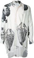 Loewe asymmetric fossil shirt - men - Linen/Flax - S