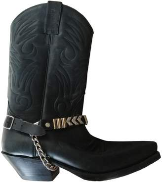 Non Signé / Unsigned Non Signe / Unsigned Hippie Chic Black Leather Boots