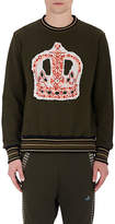 Vivienne Westwood MEN'S CROWN-EMBROIDERED COTTON TERRY SWEATSHIRT