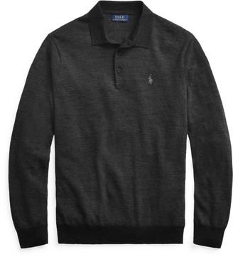 Ralph Lauren Merino Wool Polo-Collar Jumper