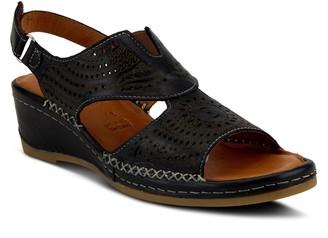 Spring Step Leather Comfort Wedge Sandals - Tourner