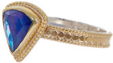 Anna Beck 18K Gold Plated Sterling Silver Lapis Triangle Ring