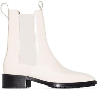 AEYDĒ Simone 50mm leather Chelsea boots