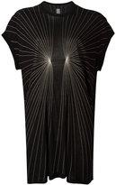 Rick Owens stitch detailed T-shirt - women - Silk/Viscose - 40