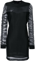 Versus gathered sleeve mini dress - women - Polyamide/Polyester/Viscose - 40
