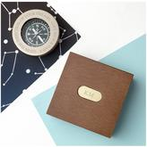 Very Personalised Traveller's Brass Compass in Monogrammed box