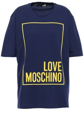 Love Moschino Appliqued Cotton-jersey T-shirt