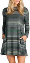 Elan International Olive Stripe Dress