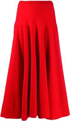 Marni Ribbed Knit Mid-Length Skirt