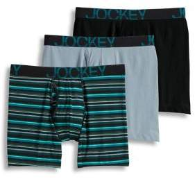 Jockey 3-Pack Active Stretch Midway Boxer Briefs