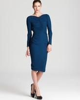 Zac Posen Crepe Dress - Long Sleeve with Ruching