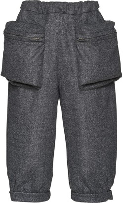 Miu Miu Double Cloth Cropped Trousers