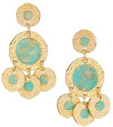 Thumbnail for your product : Gas Bijoux Illusion Bo 24K Goldplated, Gold Fleck & Enamel Chandelier Earrings