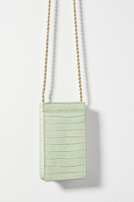 Loeffler Randall Augusta Crossbody Phone Case By in Green Size ALL