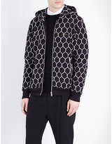 Undercover Fence-print Cotton-jersey Hoody