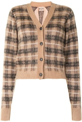 No.21 Brushed Check Cardigan