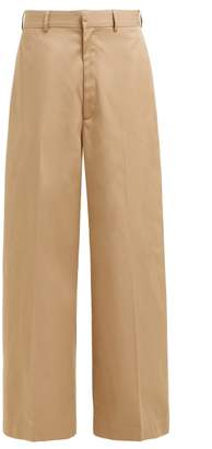 Raey Wide-leg Cotton Chino Trousers - Womens - Tan