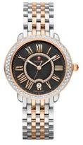 Michele Serein 16 Diamond, 18K Rose Gold & Stainless Steel Bracelet Watch