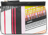 Missoni Leather-trimmed jacquard pouch