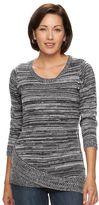 Croft & Barrow Women's Asymmetrical-Hem Sweater