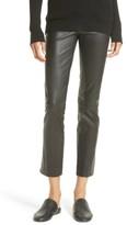 Vince Women's Slit Hem Crop Leather Pants