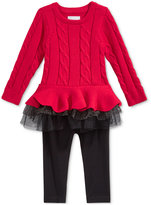 First Impressions 2-Pc. Cable-Knit Tutu Tunic & Leggings Set, Baby Girls (0-24 months), Only at Macy's