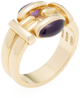 Bulgari Vintage 18K Yellow Gold & Amethyst Ring