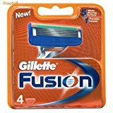 Gillette 16284 Fusion Manual Refill Cartridges, 4 Count