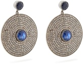 Jade Jagger Diamond, sapphire & white-gold earrings