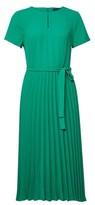 Dorothy Perkins Womens Green Pleat Keyhole Midi Dress, Green