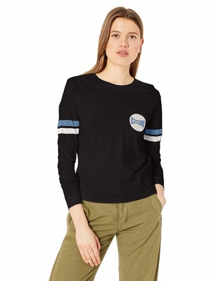 RVCA Women's Bow Tied Scoop Neck Long Sleeve T-Shirt