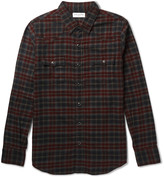 Saint Laurent - Slim-fit Checked Cotton-flannel Western Shirt