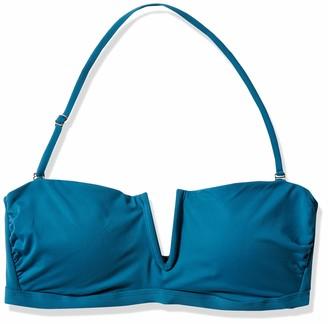 Catalina Women's Bandeau Bikini Top with V Wire