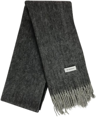 Givenchy Grey Wool Scarves & pocket squares
