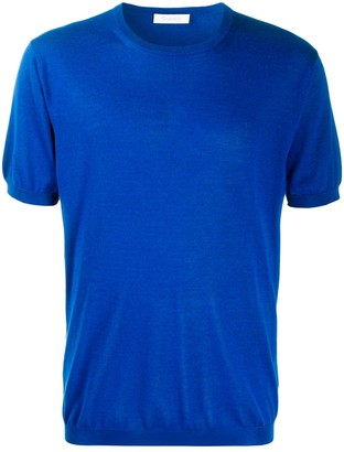 Cruciani Short-Sleeve Fine Knit Jumper